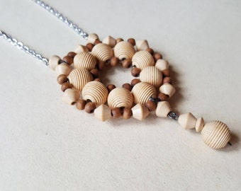 Vintage Beaded Necklace, 1970s (F1021)