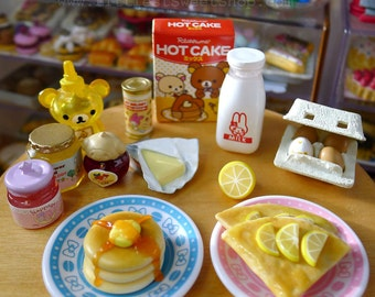 Miniature Crêpe Suzette Dolls Food 1:6 Scale 2 pieces with lemon wedges, Handmade by Nadia Michaux