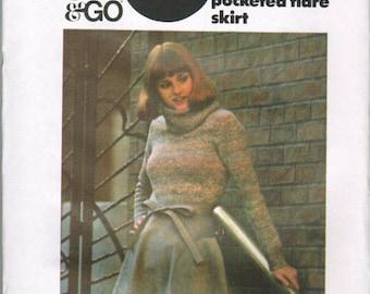 OOP Vintage Butterick 4442 Womans Skirt