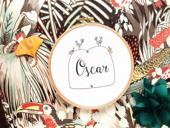 Framed Name, Ref Oscar, custom, gift baby, bedroom setting, name of your choice, gift coworker, novelty.