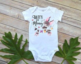 Halloween Shirt, Batty for Mommy, Halloween Baby, First Halloween, Trick or Treat, 1st Halloween, Mommy Shirt, Baby Shower Gift, Newborn set