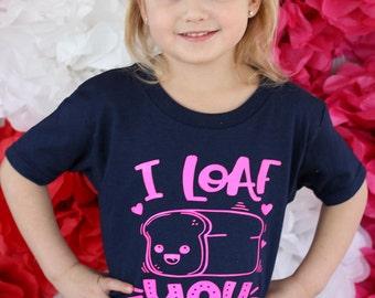 I Loaf You Kids Valentine Tee, Kids Valentine Shirt, Cute Love Kids Shirt, Toddler Valentine Tee, Youth Valentine Tee, Kids Shirt, Kids Tee