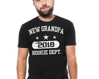 New Grandpa 2018 T-Shirt Grandfather Grandpa Birthday Gift Ideas Christmas Gift Shirt