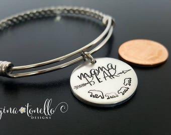 Mama Bear Bracelet, Mom Bracelet, Personalized Mom Jewelry, Baby Bear Bracelet, Mama Bear and Cub Bracelet, Mama Bear and Baby Bear, TW