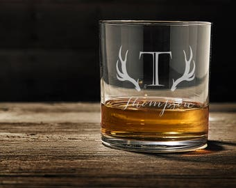 Engraved Whiskey Glasses, Custom Whiskey Glass, Personalized Scotch Glasses, Christmas Gift, Custom Whiskey Glasses WG102