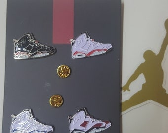 AJ VI sneakers pin set (Air Jordan 6)