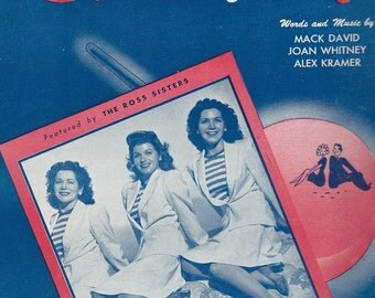 candy rose sisters sheet music cover 1940s