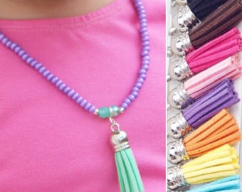 Kids Necklace, Toddler Jewelry, Kids Jewelry, Baby Necklace, Necklace for Girls, Toddler Necklace, Tassel Necklace Beaded