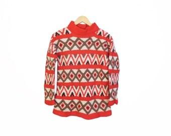 Vintage Wool Hippie Sweater Size S