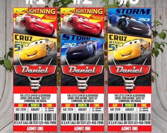 Disney Cars ticket Invitation, Cars Birthday Invitation, Cars Birthday Party, Cars Printables, Cars ticket, Ticket Cars Invitation