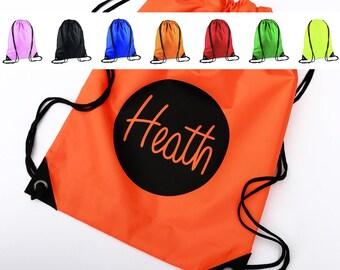 Name Drawstring Bag, Kids Bag, School Bag, Nursery Bag, Custom Name Bag, Kids Backpack, Childrens Bag, Gym Bag, Swim Bag, Sports Bag, PE Kit