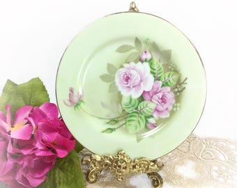 Lefton Heritage Salad Plate, Lefton Porcelain Plate, Lefton Display Plate, Wall Decor, Heritage Dinnerware, Cake Plate #B276