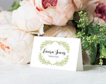 Name Cards Wedding Template, Printable Wedding Name Cards, Name Cards Wedding Seating, Wedding Place Cards, PDF Instant Download
