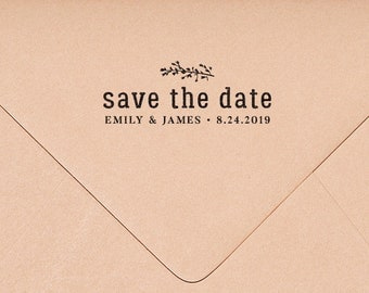 Save the Date Stamp, Save the Date Wedding Stamp, Save the Dates, Invitation Stamp, Rustic Wedding  HW113