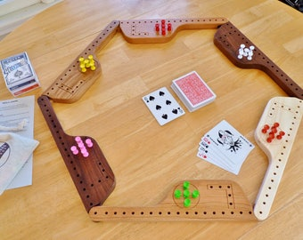 Pegs and Jokers for 4, 6, or 8 players | Pegs and Jokers with hardwood paddles