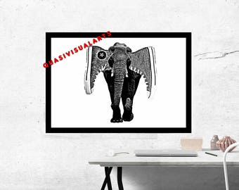 Elephant Ears Street Art Print from QuasiVisualArts