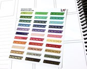 Bow Washi Strips FOIL | Spring Multicolor | Matte Glossy Planner Stickers