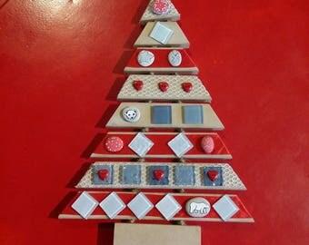 Wall decoration or hanging Christmas tree, Christmas tree, handmade