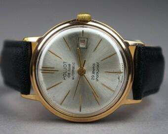 Soviet watch, USSR watch, Poljot Deluxe, men's watch, watch, Poljot, mechanical watch, made USSR, 70 years, Poljot watch, men's watch USSR