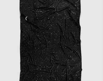 Space Throw Blanket, Black and White, Blanket, Throw, Sofa Blanket, Sofa Throw, Fleece Blanket, Soft Blanket, Fleece Throw, Black Throw