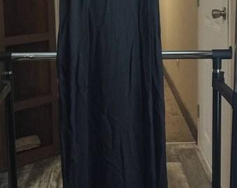 Vintage Jessica  McClintock Gunne Sax Prom Formal Black Dress