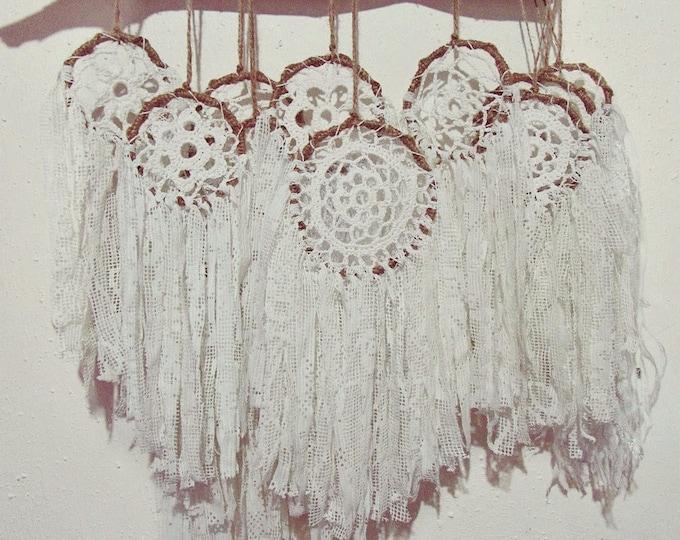 Multiple Dreamcatchers Wall Hanging Display - Gypsy Bedroom Decor - Boho Nursery - Bohemian Lace Dream Catcher - Boho Wedding Decoration