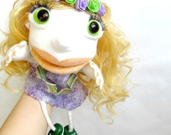 Professional puppet Muppet puppet Curly hair Art dolls Ooak doll Collectible dolls Marionette Puppet for children Ventriloquist Theatre