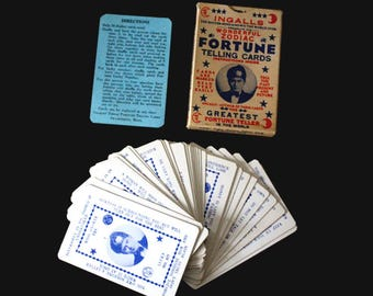 1930s Ingalls Wonderful Zodiac Fortune Telling Cards. *Replacement Card*. Fortune Telling Cards. Vintage Fortune Telling Cards. Fortune Card