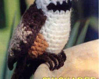 "Vintage Crochet Pattern Chickadee Bird PDF Instant Digital Download Realistic Winter Songbird Amigurumi Plush Stuffed Toy 7"""
