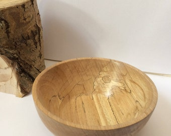 Hand-turned Spalted Beech Bowl