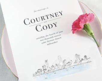 Milwaukee Skyline Wedding Programs (set of 25 programs)