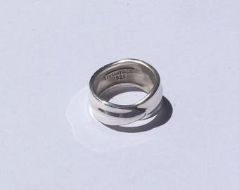 Tiffany and company sterling wave ring sterling silver 925 size 6 3/4