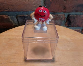 Red M&M Candy box, candy box with red M and M, Candy box with red M and M, Collectible M and M, candy gift box