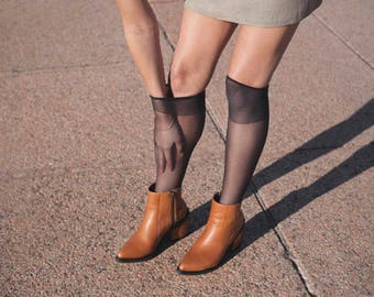 Brown Leather Ankle Boots - Handmade Leather Boots - Caramel Boots - Point-toe Boots - Tan Leather and Patent Leather Boot - Genuine Leather