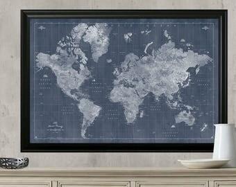 World Travel Map Push Pin Travel MapFramed Or Hanging Travel - Framed travel map with pins