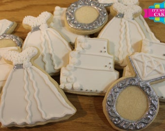 Wedding Bridal Shower Cookies 1 Dozen