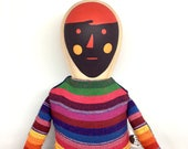 Wood and Fabric doll -