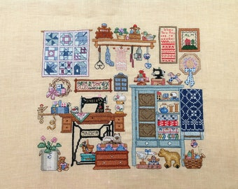 My Little Market: counted stitch Embroidery