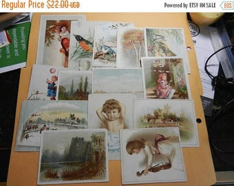 Summer Sale 14 victorian Advertisment Cards