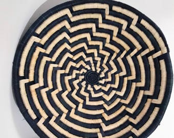 Large African woven basket / Bowl handcrafted ethnic