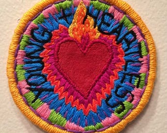 Young and Heartless Embroidered Leather Patch