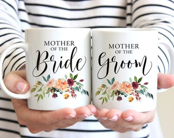 Mother of the Bride Gift, Mother of the Groom Gift, Mother of the Bride Mug, Mother of the Groom Mug, Bride and Groom Mugs, Set of 2