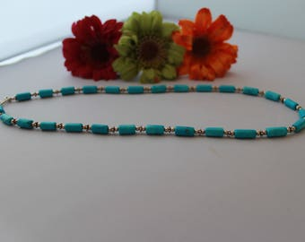 Turquoise Necklace set in Sterling Silver