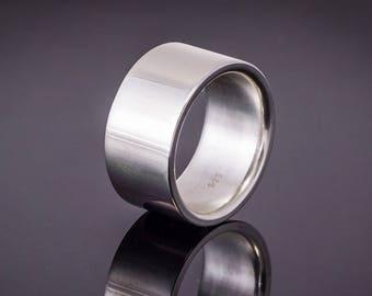 Wedding ring made of 925 Silver wedding ring (12 mm width)