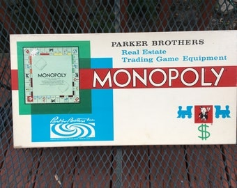 1961 Vintage Monopoly Game Copyright 1961 Board Game Parker Brothers