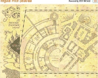 """ON SALE Counted Cross Stitch Patterns - first portion marauder's map part Harry Potter - 26.64"""" x 20.50"""" - L1334"""