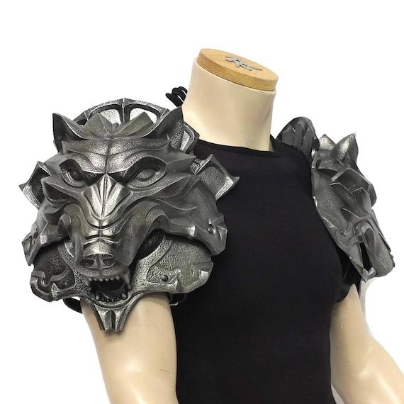 Larp Armor, Wolf Head pauldrons
