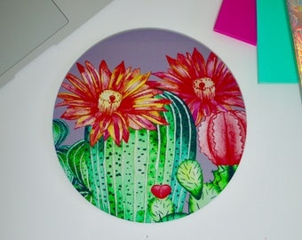 Cactus Mouse Mat - Cacti Succulents Tropical - Mousemat Mouse Pad - Desk Accessory Office Gift