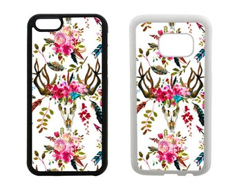 Boho phone case iPhone SE 6 6S 7 8 Plus, X 5S 5C 5 4S, Samsung Galaxy S8 Plus, S7 S6 Edge, Note 5, S5 S4, rubber bumper phone case. R339