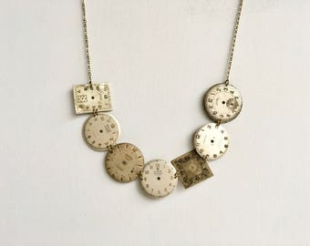 Upcycle necklace with nice old dials!